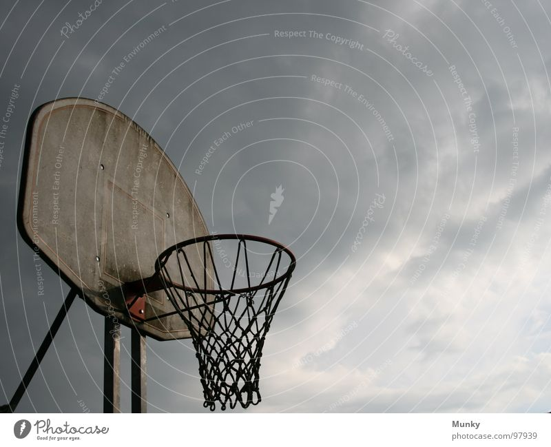 Silence before the Storm Ball sports Playing field Basket Strike Throw-in 3 National Basketball Association Jump Basketball basket Moody Clouds Middle Attack