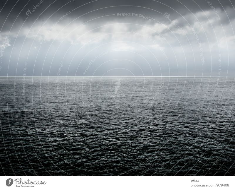 Nature Blue White Water Ocean Loneliness Landscape Calm Clouds Far-off places Dark Cold Environment Gray Horizon Air