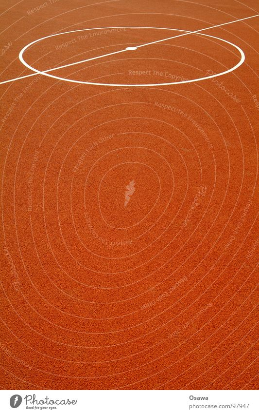 Red Sports Playing Line Orange Background picture Soccer Places Floor covering Circle Soft Middle Playing field Basketball Rubber Center point