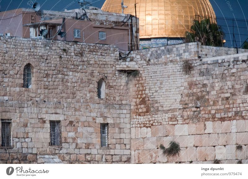 Vacation & Travel Religion and faith Tourism Argument Tourist Attraction Dome Politics and state Near and Middle East Israel West Jerusalem Dome of the rock