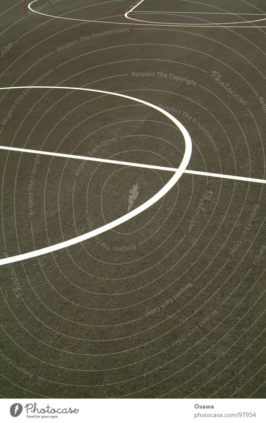 Black Sports Playing Gray Line Soccer Background picture Circle Places Floor covering Asphalt Middle Playing field Basketball Hand ball Center point