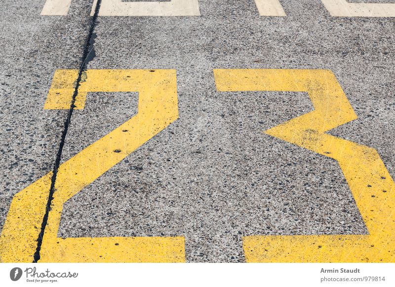 666 Design Airport Street Runway Sign Characters Digits and numbers Simple Near Original Retro Yellow Idea Arrangement Perspective Price tag Puzzle 23