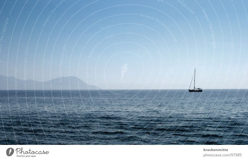 off to Elba Italy Vacation & Travel Ocean Waves Exile Watercraft Sailing ship Boating trip Approach Loneliness Island
