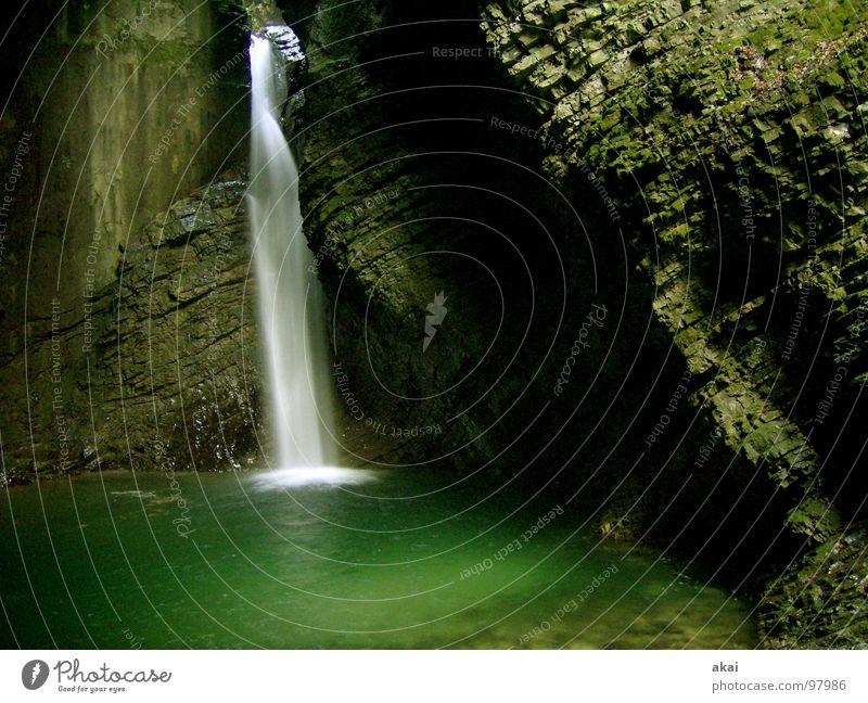 Water Beautiful Green Dark Cold Wet Fresh River Brook Waterfall White crest Slovenia