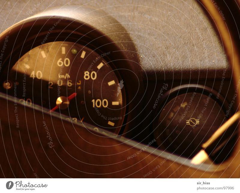 Transport Transience Car GDR Nostalgia Vintage car Trabbi Chemnitz Steering wheel Speedometer Nostalgia for former East Germany Dashboard Fittings Zwickau