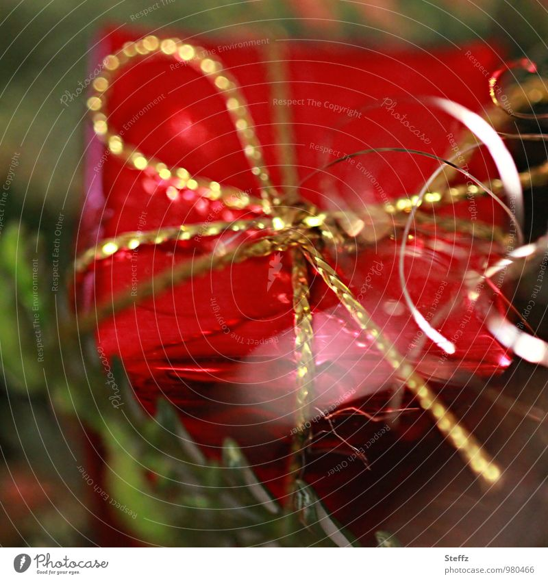 a present is waiting Gift Anticipation Surprise christmas time Giving of gifts Christmas Tradition Donate Christmas decoration Christmas gift Curiosity