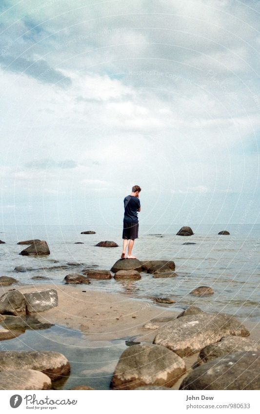 Sky Summer Ocean Calm Clouds Beach Coast Think Rock Horizon Meditative Island Observe Idea Hope Mysterious