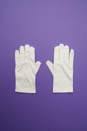 WeihMa Handicraft set gloves Shopping Luxury Style Design Fashion Clothing Workwear Accessory Gloves Sign Exceptional Simple Together Funny Clean Violet White