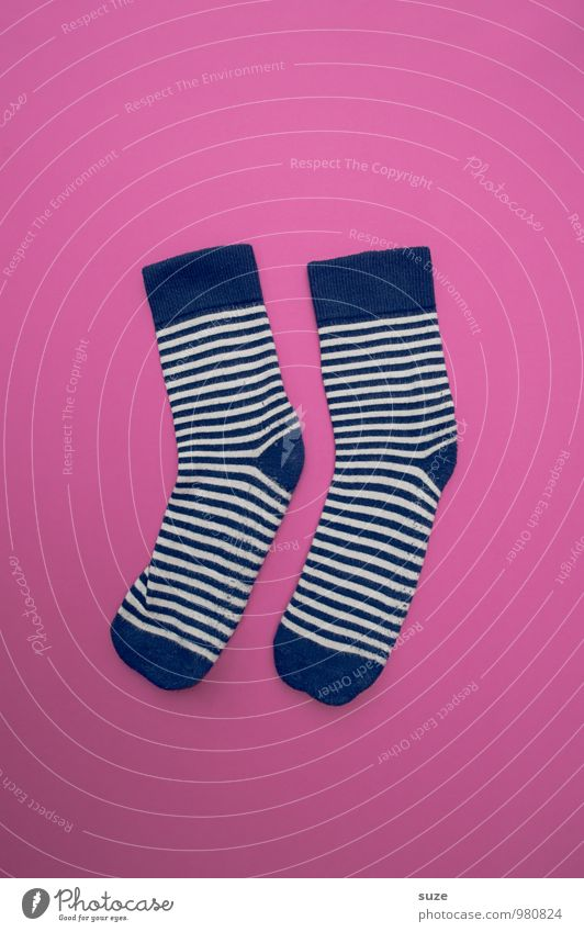 WeihMa Socks Kit Lifestyle Shopping Style Design Leisure and hobbies Fashion Clothing Stockings Stripe Simple Beautiful Funny Blue Pink Orderliness Cleanliness