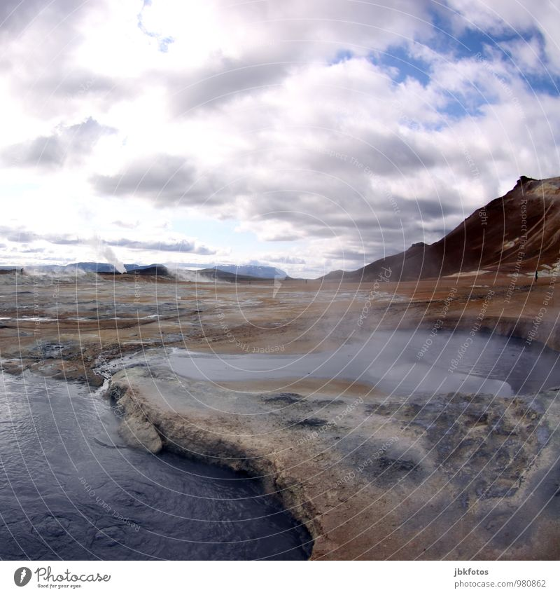ICELAND / Námafjall Environment Nature Landscape Plant Elements Earth Fire Water Clouds Warmth Glacier Volcano Fantastic Gigantic Hot Namafjall Iceland