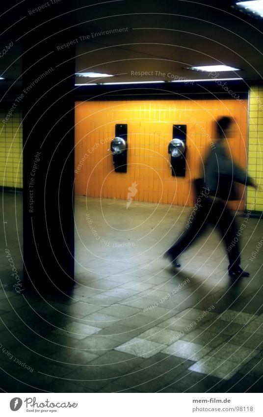 Colour Movement Fear Construction site Underground Cologne Panic Neon light Passenger traffic Subsoil Pursue Chase