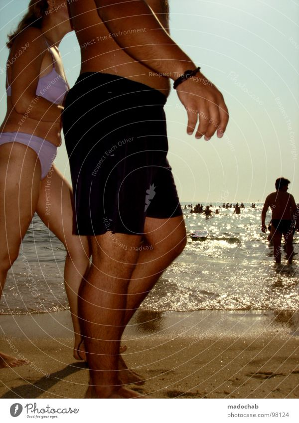 Human being Woman Man Water Vacation & Travel Hand Summer Sun Ocean Beach Relaxation Movement Sand Swimming & Bathing Going Arm