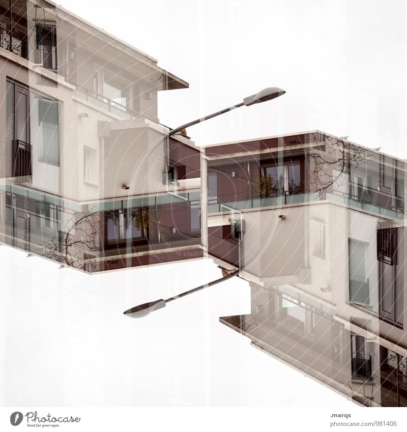 House (Residential Structure) Window Architecture Style Building Lifestyle Facade Living or residing Modern Perspective Future New Street lighting Manmade structures Balcony Surrealism