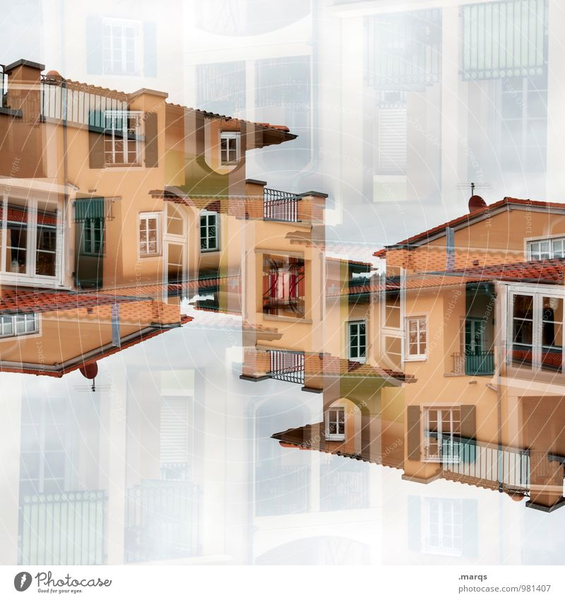Colour House (Residential Structure) Window Architecture Style Building Lifestyle Facade Living or residing Perspective Roof New Manmade structures Balcony