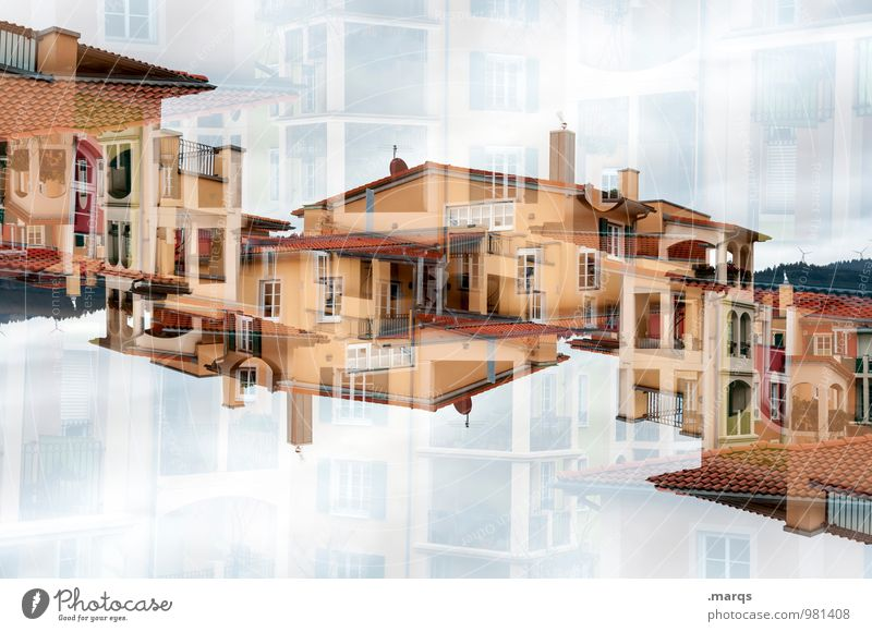 Colour House (Residential Structure) Window Architecture Building Facade Living or residing Modern Perspective Uniqueness Roof New Balcony Hip & trendy Luxury Double exposure