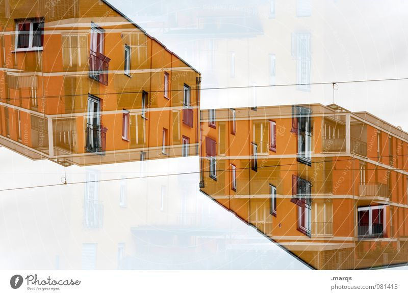 Colour House (Residential Structure) Yellow Architecture Building Exceptional Design Modern Perspective Crazy Future Hip & trendy Irritation Geometry Double exposure Symmetry