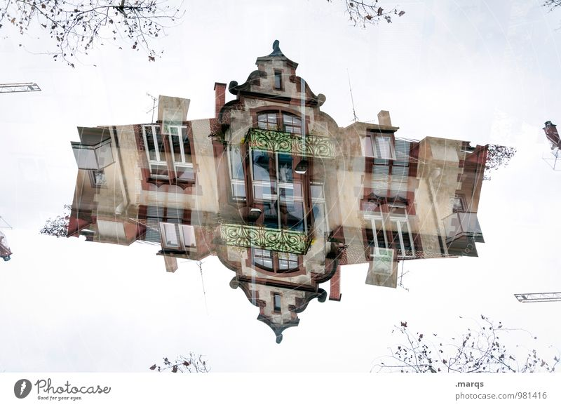 Old House (Residential Structure) Architecture Building Exceptional Living or residing Perspective Crazy Irritation Surrealism Double exposure Symmetry