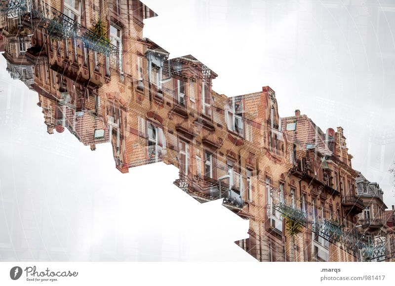 Old House (Residential Structure) Window Wall (building) Architecture Building Wall (barrier) Exceptional Facade Living or residing Perspective Crazy Uniqueness Balcony Irritation Chaos