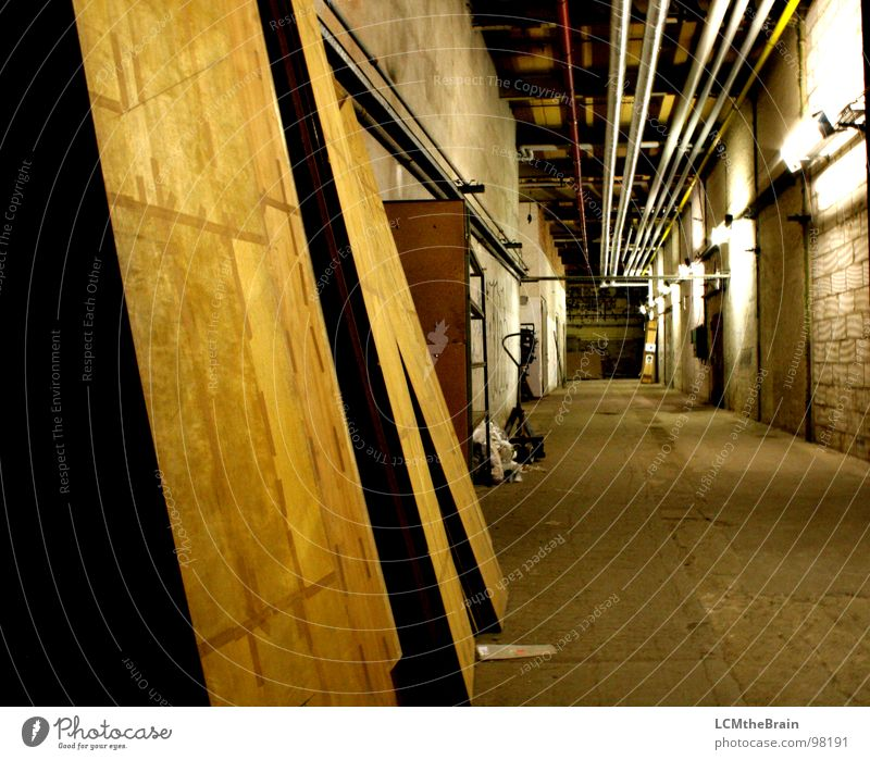 cul-de-sac Factory Industrial site Dark Wood Steel Spinning mill Cloth factory Wall (barrier) Cellar Wood flour Industry hall aisle Warehouse Old Lanes & trails