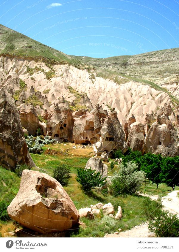 cave valley Turkey Cave Cappadocia Europe Erosion Flat (apartment) Steppe Lava Explosion Cave residence Set Star Wars Time travel Loneliness Exterior shot