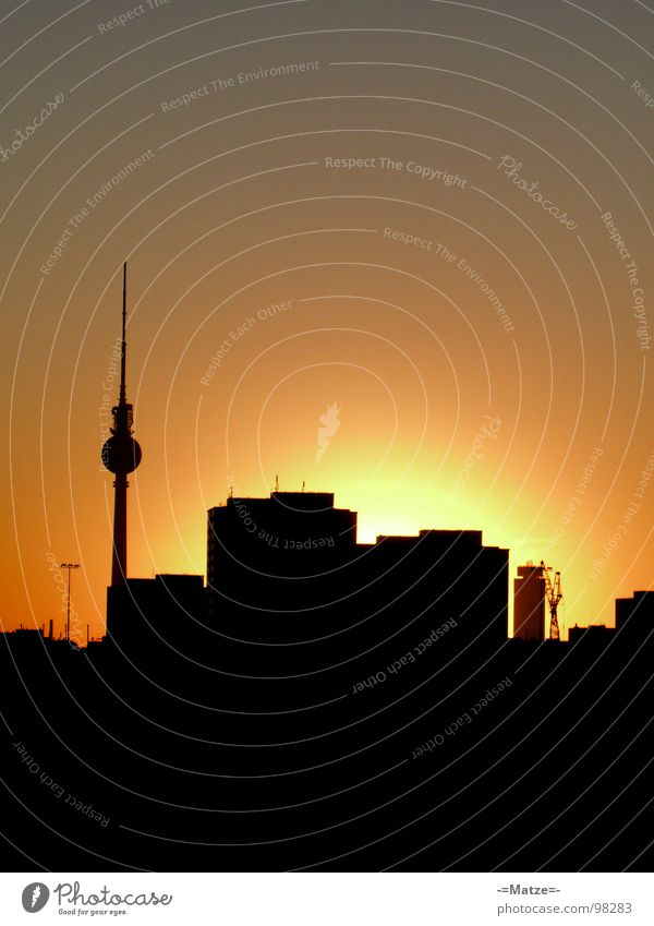 Black Yellow Berlin Tower Skyline Alexanderplatz