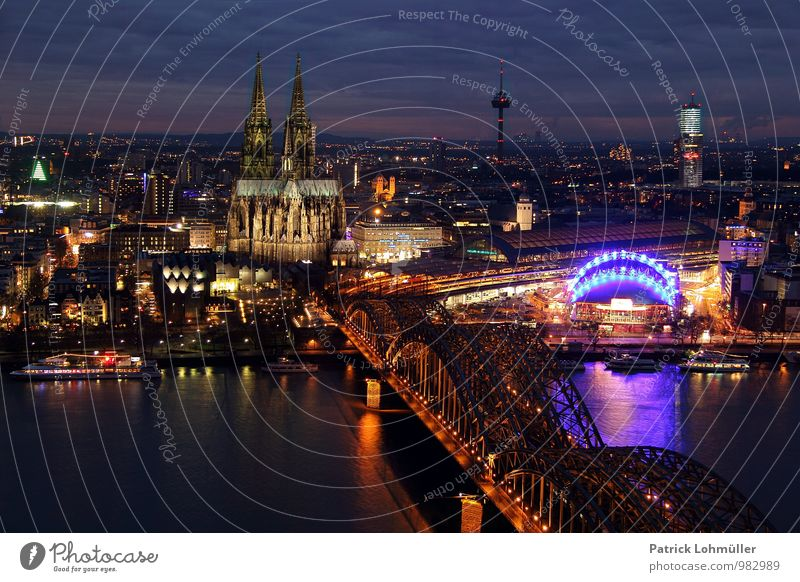 View of Cologne Architecture Germany Europe Town Downtown House (Residential Structure) Church Bridge Tourist Attraction Landmark Monument Cologne Cathedral Old