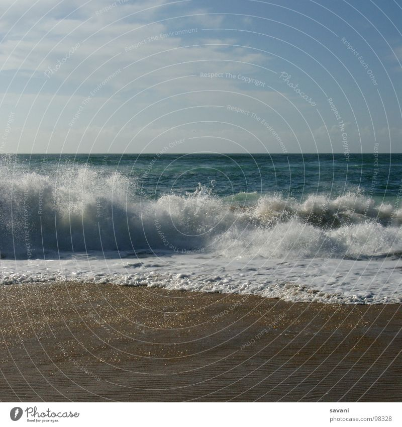 Seaside II, waves on the beach Relaxation Leisure and hobbies Vacation & Travel Tourism Trip Far-off places Freedom Summer Sunbathing Beach Ocean Waves Nature
