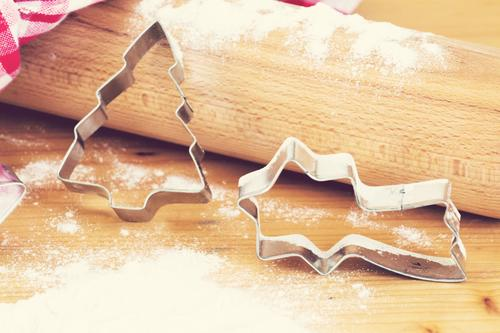 Christmas & Advent To enjoy Cooking & Baking Anticipation Flour Christmas biscuit Rolling pin Dish towel