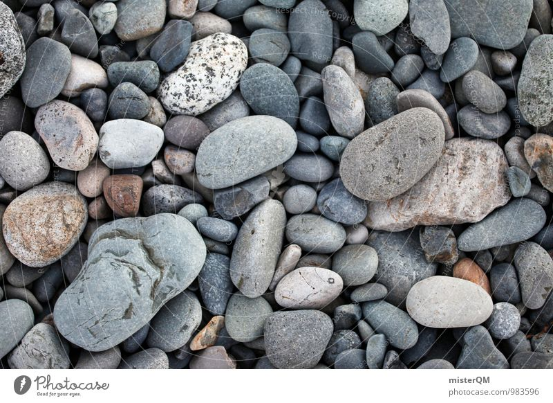 Nature Calm Beach Lanes & trails Gray Background picture Stone Art Idyll Contentment Esthetic Ground Many Stony Pebble Neutral