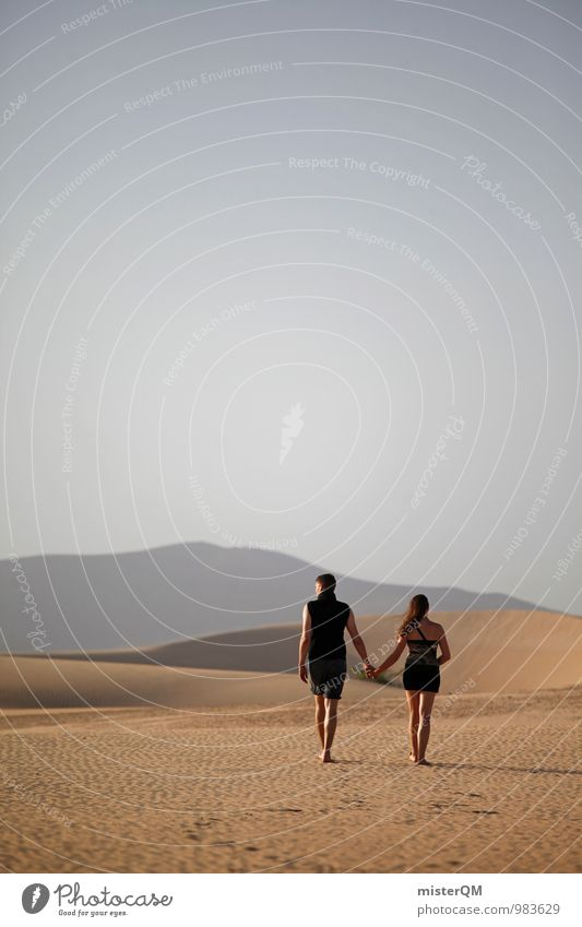 Here We Go I Art Esthetic Contentment 2 Desert Loneliness Together Lovers Declaration of love Loving relationship Future Ambiguous Hold hands Summer