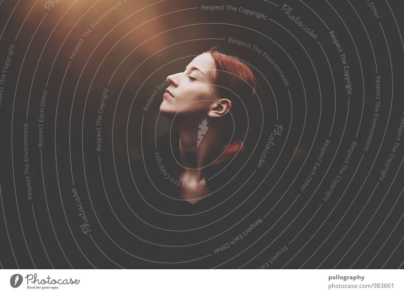 ... Human being Feminine Young woman Youth (Young adults) Woman Adults Life Body Head 1 18 - 30 years Autumn Sweater Red-haired Long-haired Emotions Moody Happy