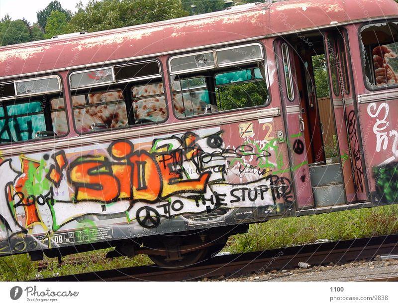 rail bus Railroad Photographic technology graffiti
