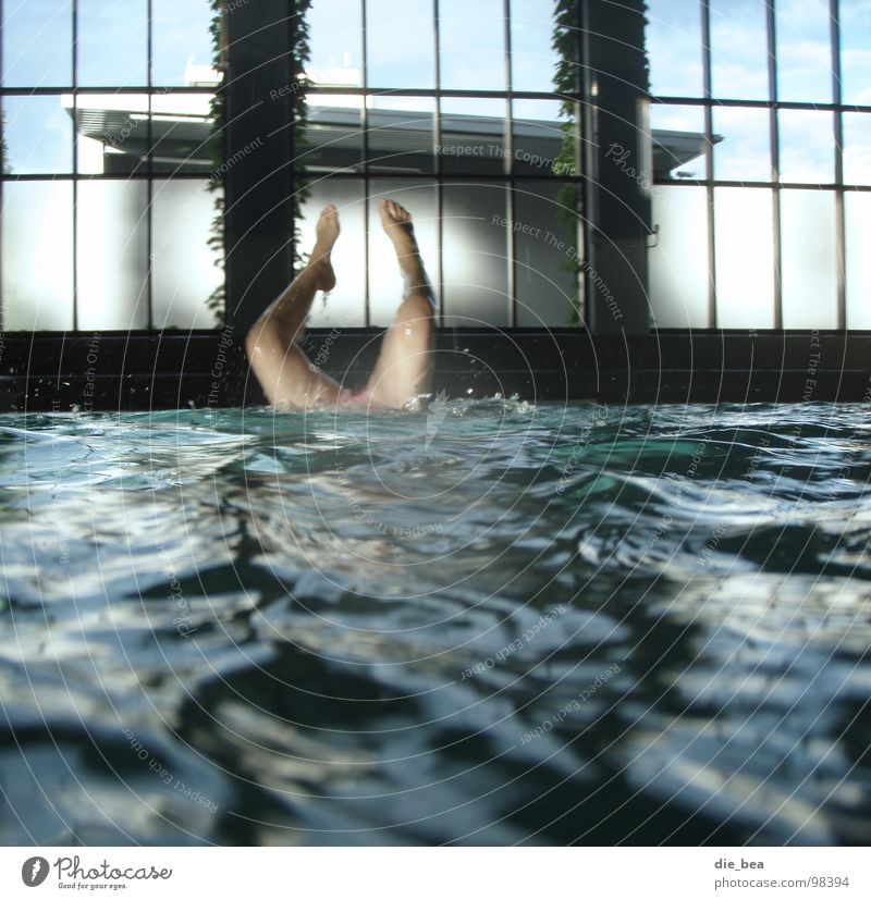 Water Window Legs Speed Swimming pool Aquatics Factory hall Handstand Deluge