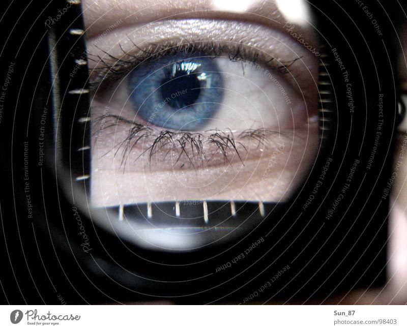 Blue Eyes Eyelash Magnifying glass Pupil Iris Enlarged Weaver's glass Without makeup