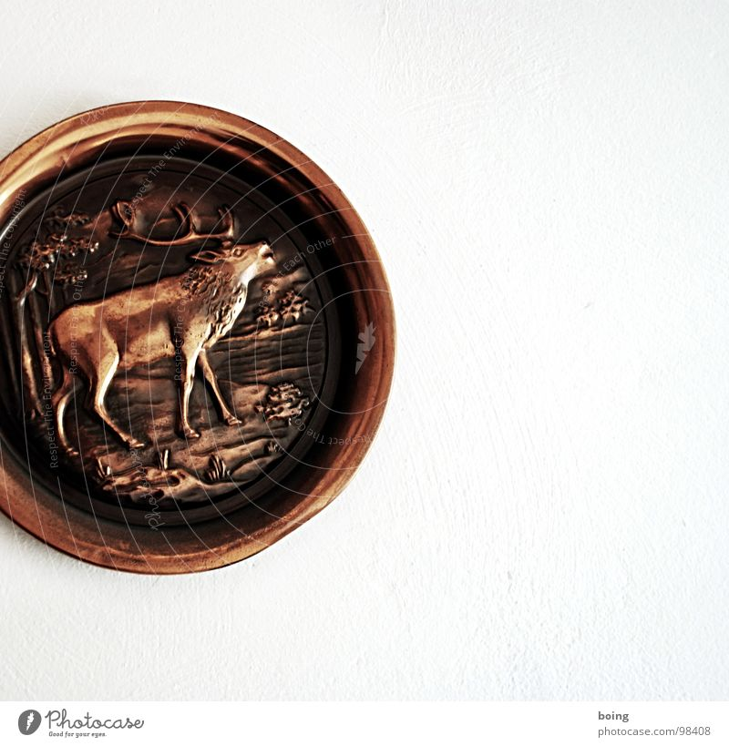Art Decoration Hunting Plate Living room Deer Hunter Souvenir Arts and crafts  Boast Rutting season Copper Ornaments Game park Lumberjack hut
