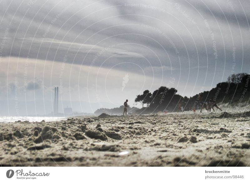 Vacation & Travel Ocean Clouds Beach Playing Sand Dirty Italy Industrial Photography Smoke Environmental pollution Tuscany