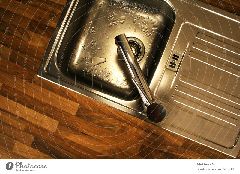 Water Nutrition Wood Warmth Wet Kitchen Clean Physics Pure Refreshment Flow Parquet floor Drainage Bleak Tin Aluminium