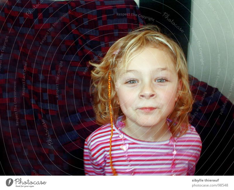 Anne Child Girl Pout Portrait photograph Blonde Hair accessories Direct Curl Hair and hairstyles green eyes Brash