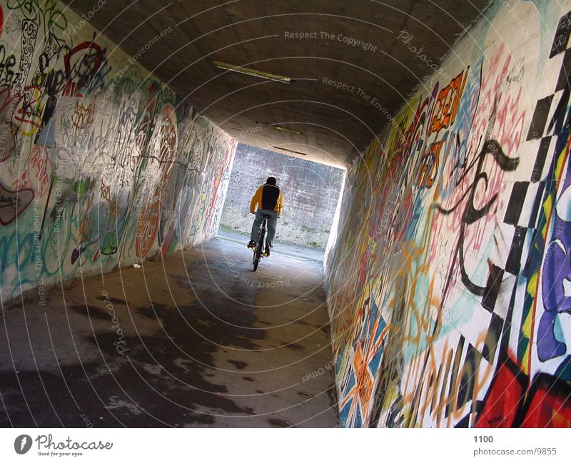 Human being Bicycle Tunnel