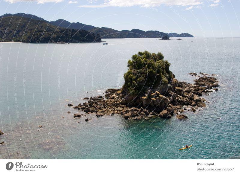 Water Ocean Summer Waves Island New Zealand Canoe Kayak