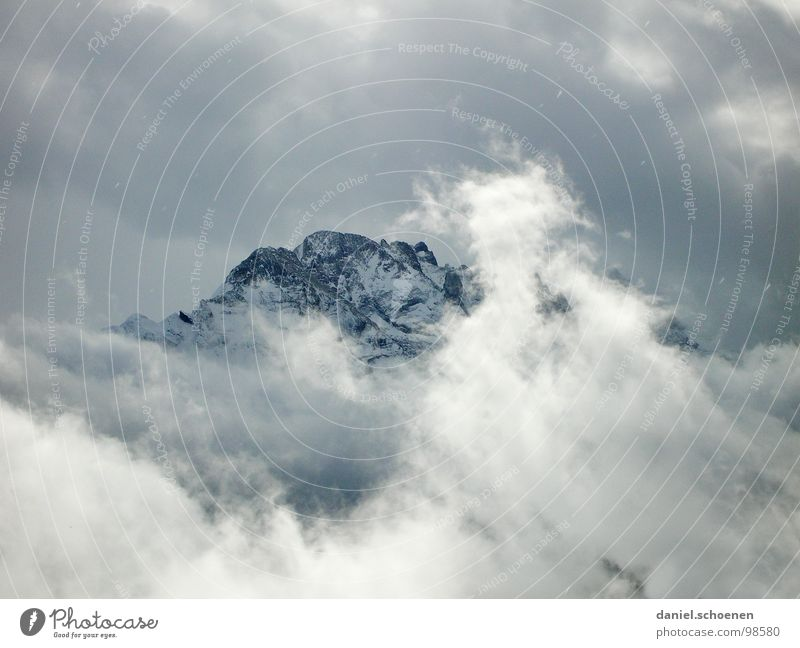 Winter Clouds Snow Mountain Ice Hiking Weather Rock Threat Switzerland Climbing Alps Point Peak Mountaineering Dramatic