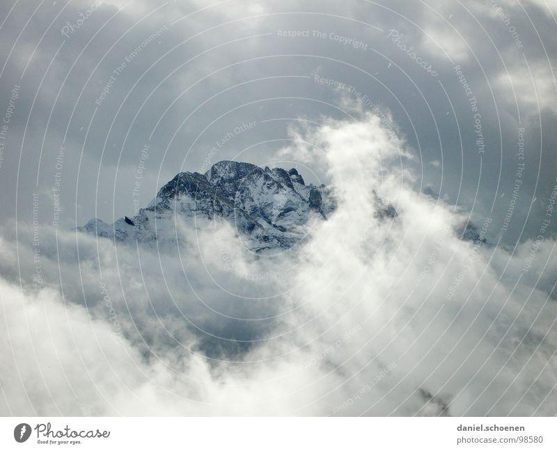 Winter Clouds Snow Mountain Ice Hiking Weather Rock Threat Switzerland Climbing Alps Point Peak Mountaineering Dramatic