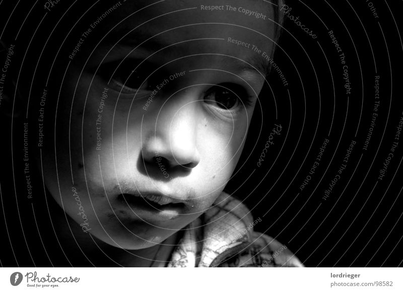 Child Black Eyes Dark Boy (child) Mouth Bright Toddler Alert