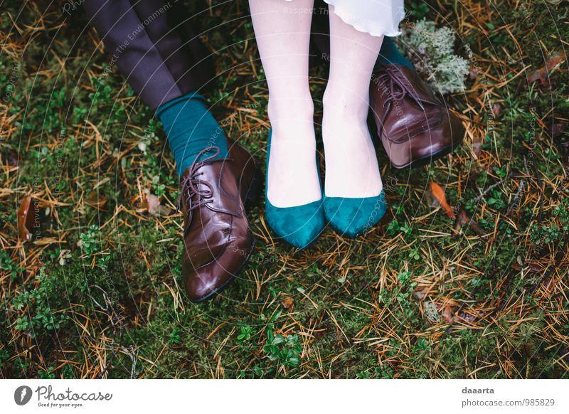 couple of couple feet Lifestyle Elegant Style Joy Beautiful Feasts & Celebrations Flirt Wedding Couple Partner Legs Feet Nature Landscape Plant