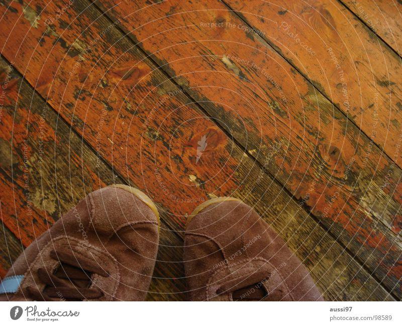 Calm Brown Dance Footwear In pairs Clothing Break Shabby Sneakers Stagnating Wooden floor Parquet floor Timidity Hop Waltz Pair of shoes