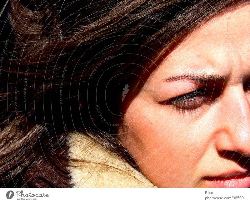 Woman Beautiful Sun Winter Face Loneliness Wind Nose Grief Distress Georgia