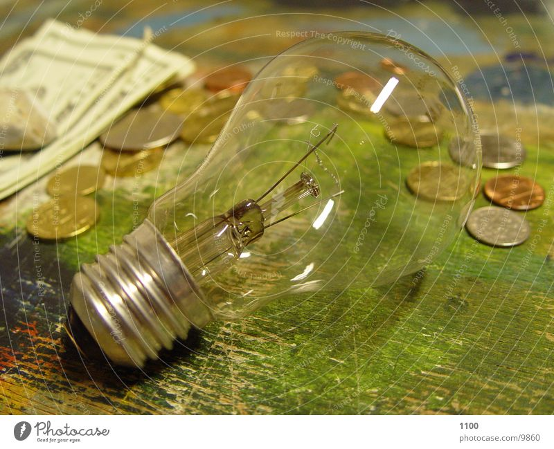 Money Technology Electric bulb Coin Electrical equipment