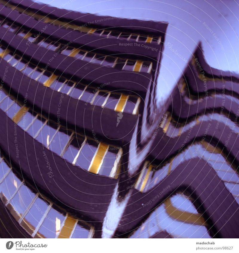 Sky House (Residential Structure) Architecture Facade Modern High-rise Obscure Netherlands Distorted Glazed facade Cubism Utrecht