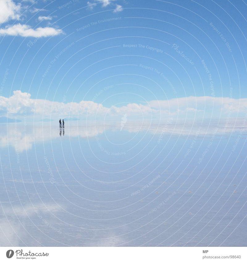 aeronauts Sky Salar de Uyuni Salt  lake Mirror Bolivia Clouds Adventure Monstrous Jump Under Lake Blue Hop Go crazy Hope Events Impressive Impression Divide