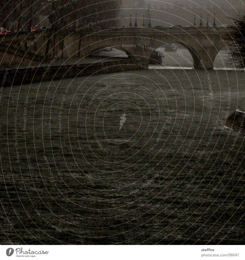 emperor's weather Paris Seine Le Pont Neuf Waves Storm Apocalypse River Brook Bridge Hail Rain Fear Threat